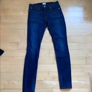 Hudson skinny blue jeans